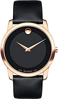 Movado Museum Classic Black Dial Men's Leather Watch