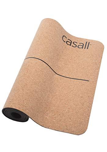 Casall Yogamatte Natural Cork 5Mm Perfekter Dämpfung Und Grip Natural Cork/Schwarz