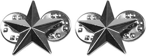 normani US Rangabzeichen aus Metall mit Nadelverschluss in verschiedenen Ausführungen Farbe Brigadier General