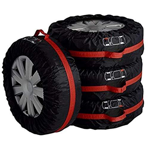 Funda Protectora Para NeumáTicos,Fundas De Rueda 4 unids Cubierta de neumáticos de repuesto Poliéster Universal Coche Auto Neumáticos Automóviles Accesorios de neumáticos Automóvil Protector de rueda