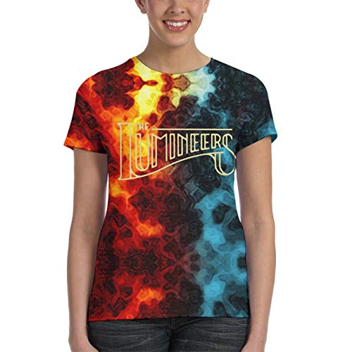 Womens' T-Shirt The-Lumineers Band Printed Tee Youth's T Shirts 3D Printed Short Sleeves Outfit Gifts for Girls Large