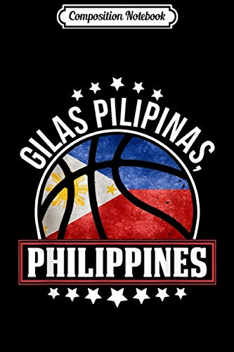 Composition Notebook: Cool Philippines Flag Basketball Team GILAS PILIPINAS Journal/Notebook Blank Lined Ruled 6x9 100 Pages