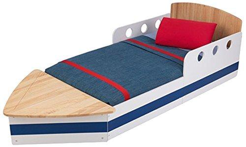 KidKraft 76253 Boot Kinderbett aus Holz für Kleinkinder Möbel für Kinderzimmer
