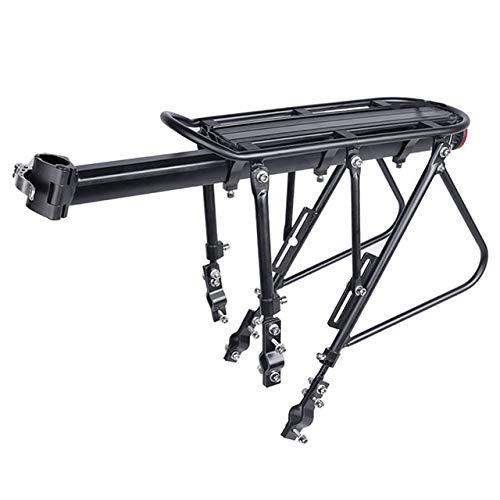 Portabultos bicicleta Heavy Duty bicicletas al portaequipajes carga trasera del estante Tija de sillín Bolsa Fit sostenedor del soporte for bicicletas 24-29 pulgadas Con Instalar herramientas