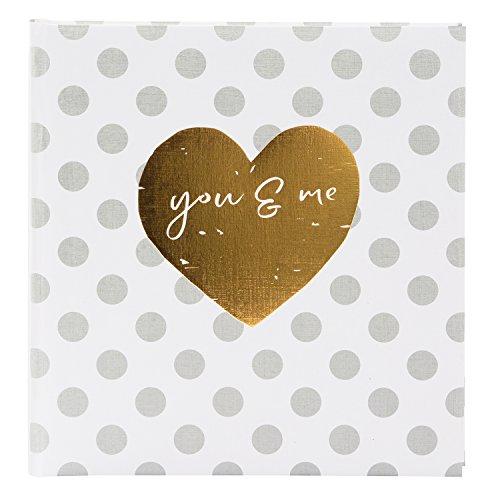 goldbuch Hochzeitsalbum, You & Me Forever, 30 x 31 cm, 60 weiße Seiten mit Pergamin-Trennblättern, Leinenstruktur mit Prägung, Mehrfarbig, 27051
