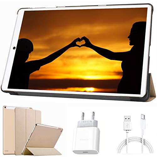 Tablet 10 Pulgadas Android 10.0-con Procesador de Quad Core 1.6GHz Ultrar Rápido Tablets 3GB RAM+32GB ROM(TF 128GB) Dual SIM|8000mAh|WI-FI|Bluetooth|GPS|Type-C (5.0+8.0 MP Cámara)