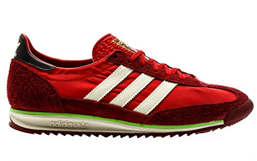 adidas Originals SL 72, Scarlet-off White-Collegiate Burgundy, 9