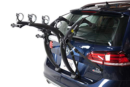 Saris Bones EX Trunk Bike Rack Carrier, Mount 3 Bikes, Black (803)