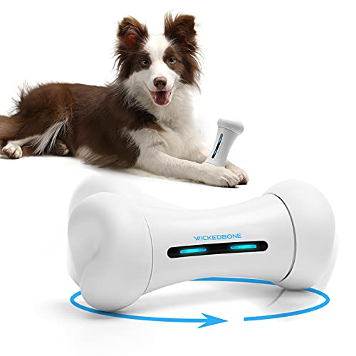 Interactive Dog Toys Boqii , Electronic Automatic Dog Toys, Remote Control Smart Pet Dog Toys in App Control, Moving Dog Toys for Small Medium Large Dogs(White)