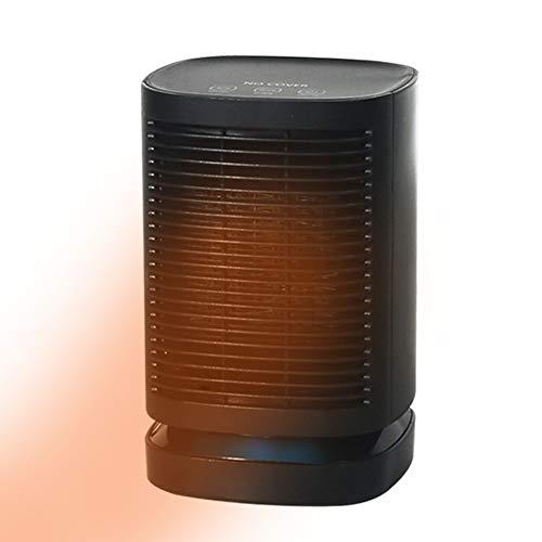 WYW 900W Mini Compacto Calefactor Termoventilador,Función Ventilación,con 3 Niveles de Potencia,Sistema de Seguridad,Muy Adecuado para Escritorios,silencioso Termostato Ajustable,2