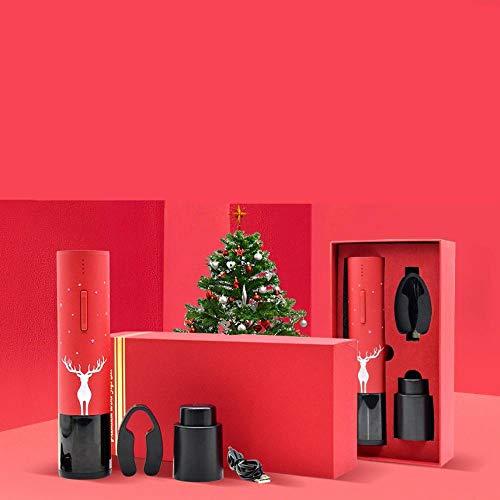 Apribottiglie elettrico per vino rosso, apribottiglie elettrico ricaricabile, apribottiglie elettrico, set regalo con confezione di lusso