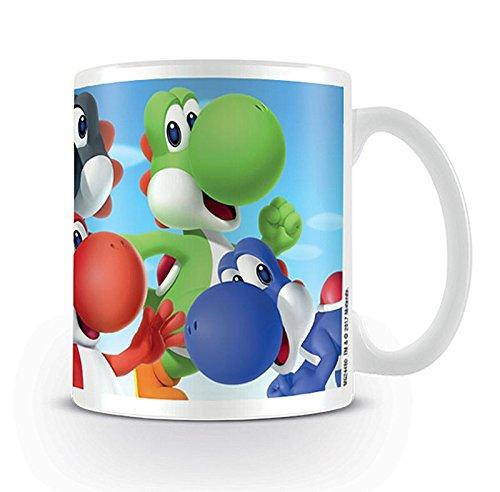Close Up Super Mario Tasse Yoshi - weiß, Bedruckt, aus Keramik.
