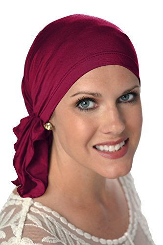 Headcovers Unlimited Slip-On Scarf- Cancer Headwear for Women (Wine)