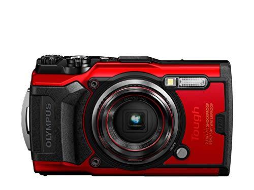 Olympus Tough TG-6 Cámara de Acción, 12 Megapíxeles, Estabilización de Imagen Digital, 4x Zoom de Gran Angular, Vídeo 4K, 120fps, Wi-Fi, Rojo