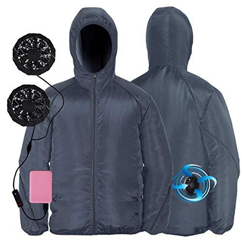 Ropa Con Aire Acondicionado, SZRP Chaqueta de Enfriamiento Con Ventilador, Ventilador de...