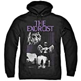The Exorcist What an Excellent Day Unisex Adult Pull-Over Hoodie for Men and Women, X-Large Black