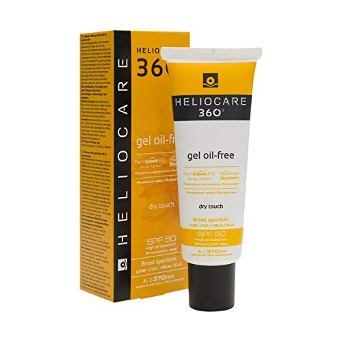 Heliocare 360 SPF 50+ Oil-Free Gel 50ml - UVA and UVB Rays Protector - Sun Care - Spain