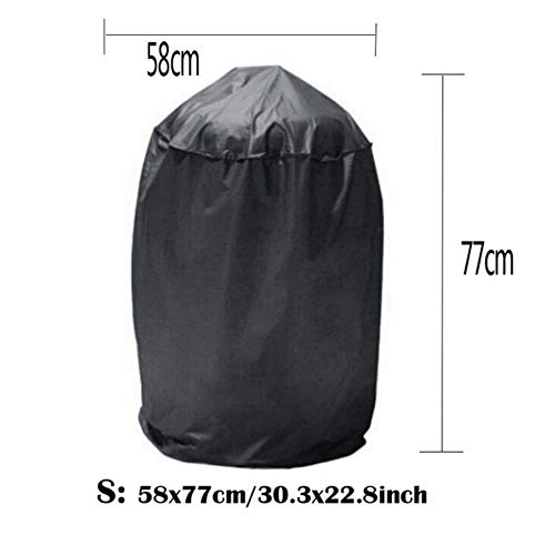 Jun 17061117M Black Waterproof BBQ Cover Outdoor Rain Barbecue Grill Protector for Gas Charcoal Electric Barbeque Grill,58x77cm