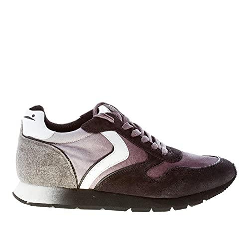 VOILE BLANCHE Uomo Sneaker Liam in camoscio Nero e Tessuto Tecnico Grigio Color Nero Size 43