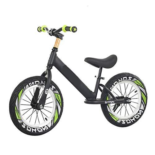 Laufräder Lauflernrad Großes Kind Jungs Laufrad, 16 Zoll Rad, Schwarz Keine Pedale Leicht Aluminium Fahrrad, für 8-12 Jährige, Verstellbarer Sitz Und Griff