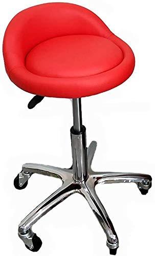 Barkruk, comfortabele ontvangst, bureaustoel van leer, draaistoel, activiteitsstoel, draaistoel, 360 graden draaistoel, in hoogte verstelbare stang