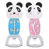 SOLUSTRE 2 Piezas de Abrebotellas de Panda Abridor Creativo de Botellas de Animales Abrebotellas de Cerveza en Forma de Panda Abrebotellas de Imán Suministros de Cocina Creativos Azul Rosa