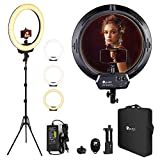HPUSN Ring Light Kit 18 Inch,Video Conference Lighting LED with Stand Phone Holder Ball Head for Camera and Phone,Dimmable 3200-5600K Ringlight for YouTube,TikTok,Live Streaming,Makeup