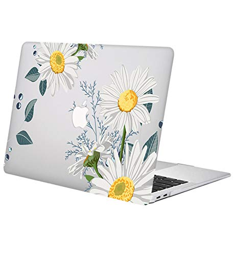 ACJYX Compatible with MacBook Pro Retina 13 inch Case (Models: A1502 & A1425) Older Version 2015 2014 2013 end 2012, Protective Print Pattern Plastic Protective Hard Shell Case, White Flower