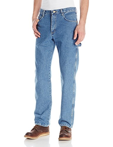 Red Kap Men's Loose Fit Dungaree, Stonewash, 28x34