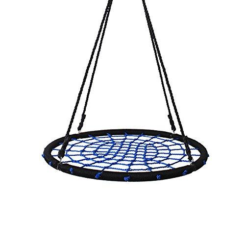 Yorbay Nestschaukel Tellerschaukel für Kinder und Erwachsene (100cm, Blau)