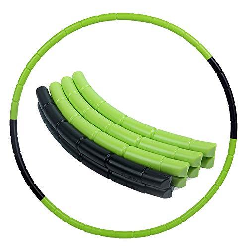 8 Teile Kinder Hoola Hoop Reifen farbig Durchmesser 70 cm hochwertig, 240g Reifen, Abnehmbar Hoola Hoop, Tragbar Reifen, zerlegbar, klein, für Training, Sport & Spiel (Grün + schwarz)