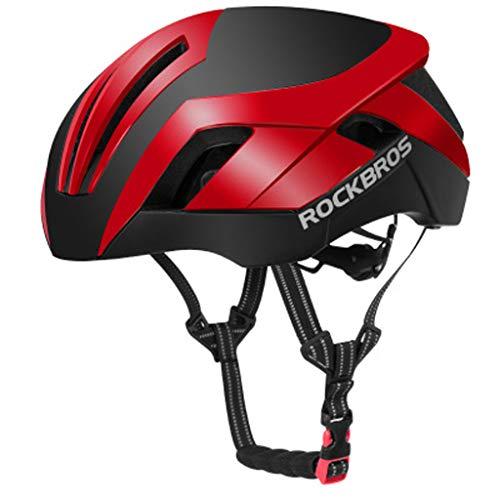 JM- Erwachsener Reithelm Mountainbike Rennrad Sicherheitsschutz ultraleichter Helm Integrierter, Verstellbarer Schultergurt (Color : A)