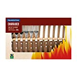 Tramontina 12 Piece Steak Knife and Fork Cutlery Set, Wood, Brown