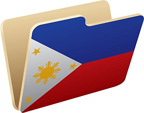 Philippines Folder Flag Vinyl Decal Bumper Sticker/Pegatina