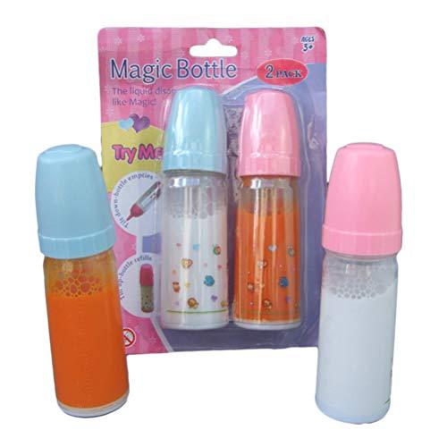 Daxoon 2 STÜCKE Magische Flasche Simulation Puppe Flasche Spielzeug Kunststoff für Kinder