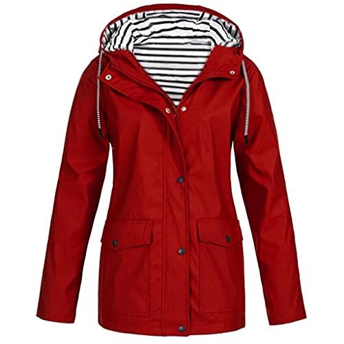 Chaqueta con capucha para mujer, chaqueta larga, resistente al viento, larga, informal, ligera, cálida, de felpa, para otoño e invierno