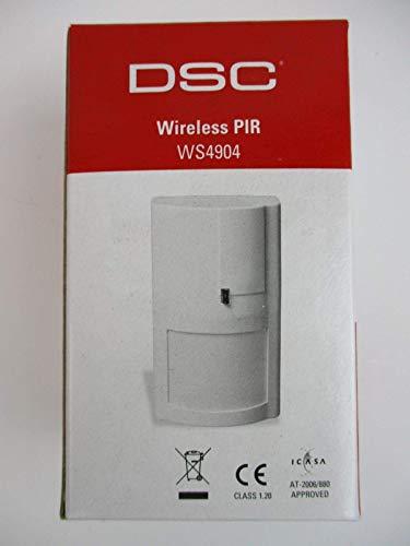 DSC WS4904P Sensor de Infrarrojos Inalámbrico Pared Blanco Detector de Movimiento - Sensor de Movimiento (Sensor de Infrarrojos, Inalámbrico, 12 m, 27 kg, Batería, 9 año(s))