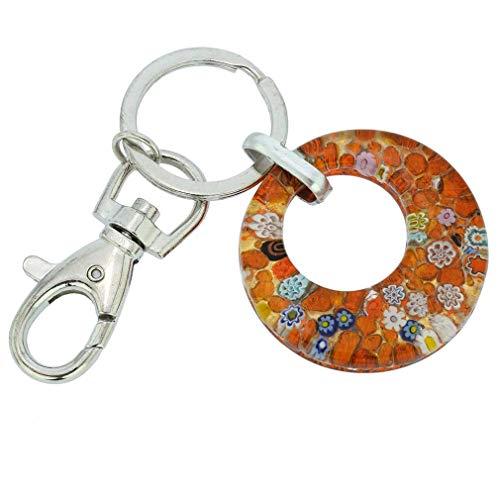 Porte-clés rond Murano Colors