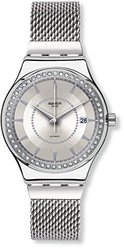 Swatch Reloj Analógico Automático Unisex con Correa de Acero Inoxidable – YIS406GB