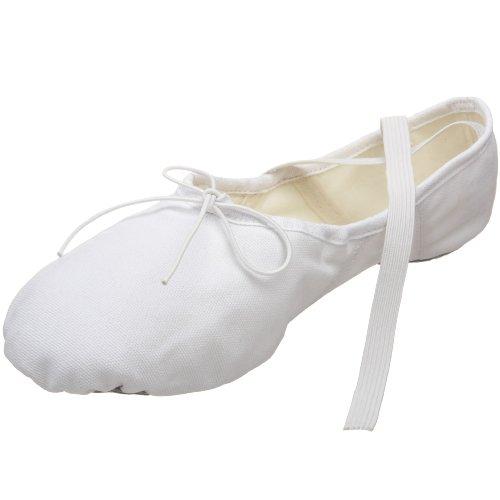 Capezio Herren Canvas Romeo Ballettschuh, Weiß (weiß), 48 EU
