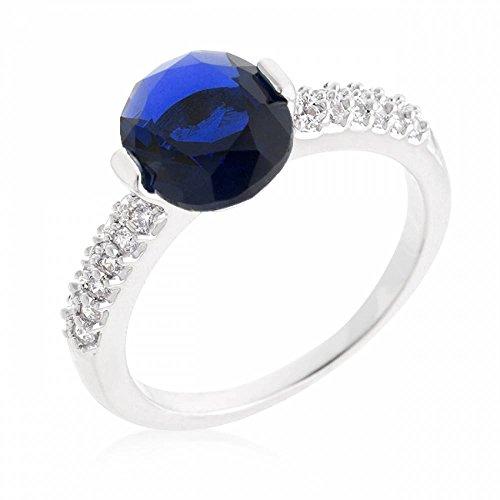 ISADY - Paloma Saphir - Anello Donna - Zirconia Cubica Azzurro - T 13