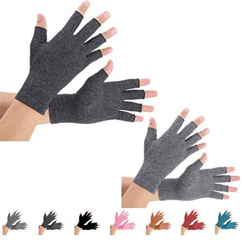 2 Paare Arthritis Handschuhe, Unterstützung für Kompressionshandschuhe und Wärme für Hände,...