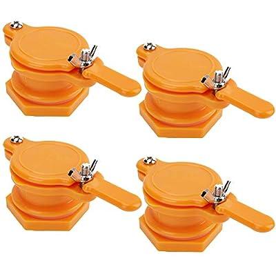 Yarlung 4 Pack Plastic Honey Extractor, Honey Gate Valve Bottling Honey Tap for Beekeeping Equipment Beekeeper Tool, Orange by Yarlung