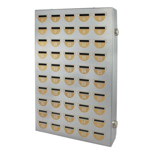 HMF 10550-09 Sparschrank 50 Sparfächer, 43,0 x 27,0 x 7,0 cm, silber