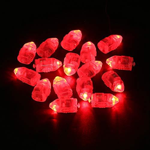 N#A Luces de decoración de Fiesta, decoración de habitación, Luces de Patio, 1 Juego / 50 Piezas, Luces LED, Luces LED, decoración(Red Light)