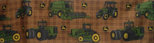 John Deere Bedding Traditional Tractor and Plaid Collection Bed Skirt, Twin