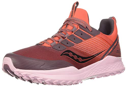 Saucony Women's Mad River TR Trail Running Shoe, Coral, 8.5
