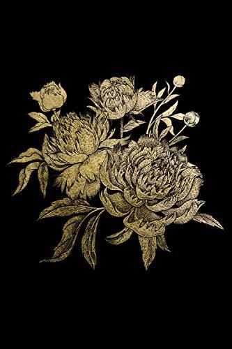 Queence | Acrylglasbild mit Blattgold | Wandbild Glasbild Acrylbild Rahmenlos | Blumen | Druck auf Acrylglas | Goldveredelung | Größe: 40x60 cm