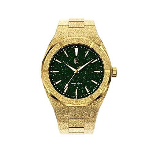 Paul Rich - Reloj de hombre con esfera de aventurina, 42 mm, acero inoxidable, Oro verde.,