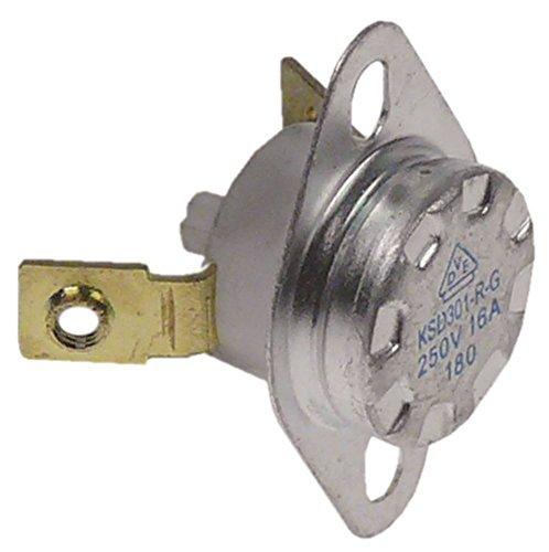 Bartscher veiligheids-aanlegthermostaat voor contactgrill A150674, A150671 1-polig 1NC 180 °C aansluiting M3 inbouw ø 15 mm 1-polig